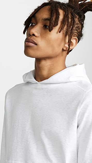 Wings + Horns 1X1 Slub Hooded Pullover