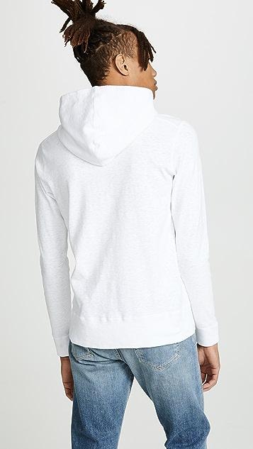 Wings + Horns 1X1 Slub Hooded Pullover