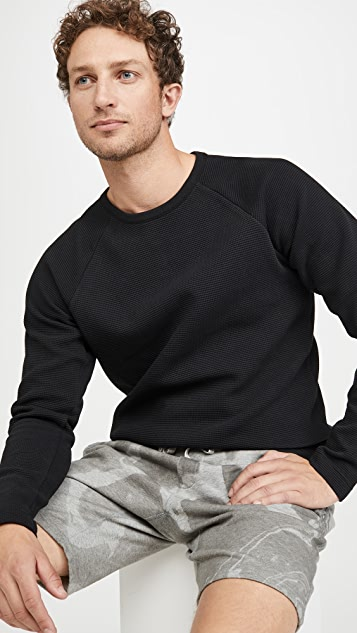 Wings + Horns Flatback Waffle Crew Neck