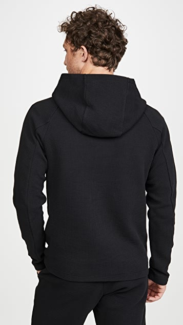 Wings + Horns Flatback Waffle Hooded Pullover