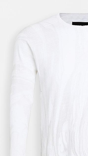 Wings + Horns Vertical Dye 1x1 Slub Long Sleeve Tee