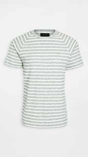 Wings + Horns Striped Loop Knit Short Sleeve Tee