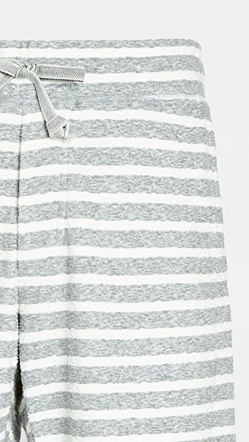 Wings + Horns Striped Loop Knit Shorts