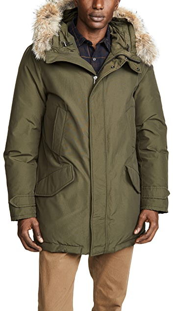 Woolrich John Rich & Bros. Polar Parka Coat with Fur Trim