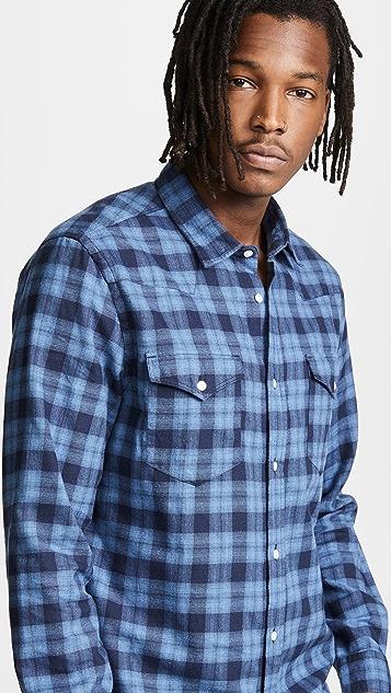 Woolrich John Rich & Bros. Melange Check Flannel Shirt