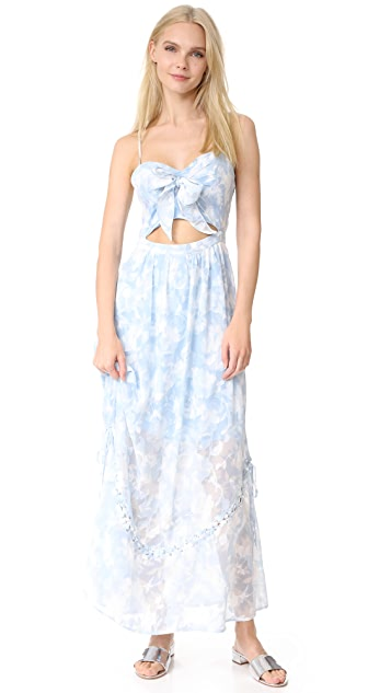 We Are Kindred Morning Frost Bow Front Dress
