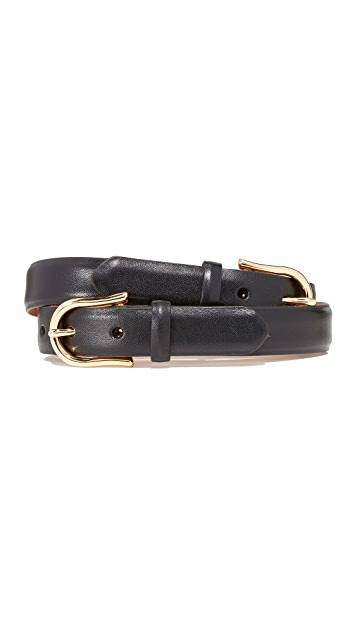 W.Kleinberg Double Buckle Leather Belt