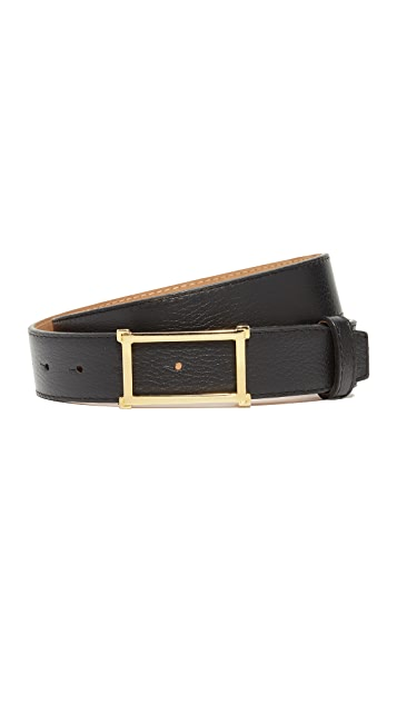 W.Kleinberg Pebbled Leather Window Belt