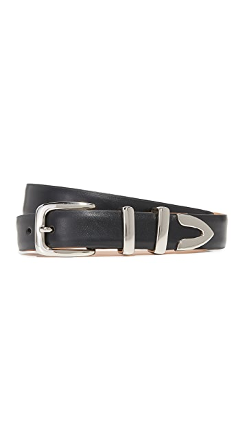 W.Kleinberg Semi Matte Leather Tip Set Belt