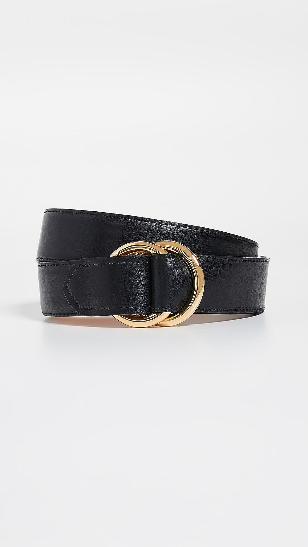 NEW  GLAZED BLACK leather BELT sizes 40 42  L  XL LAST 4 CHEAP