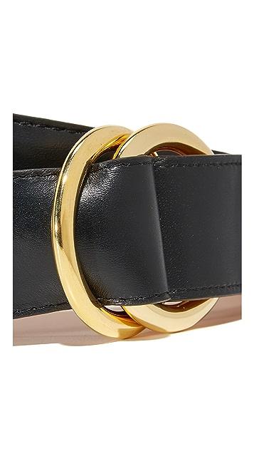 W.Kleinberg Кожаный ремень с круглым кольцом