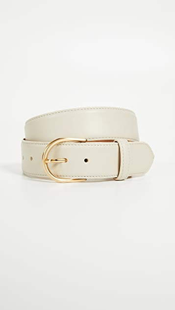 W.Kleinberg Pebbled Leather Basic Belt