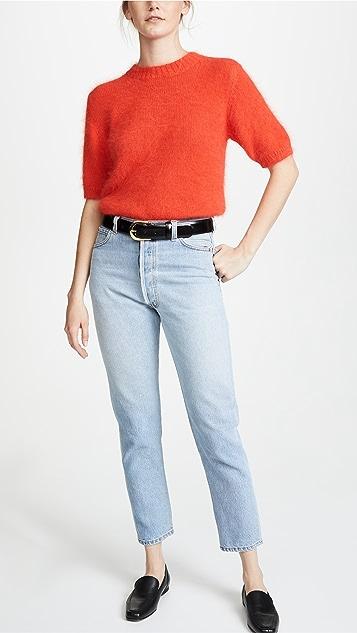 W.Kleinberg Skinny Leather Belt
