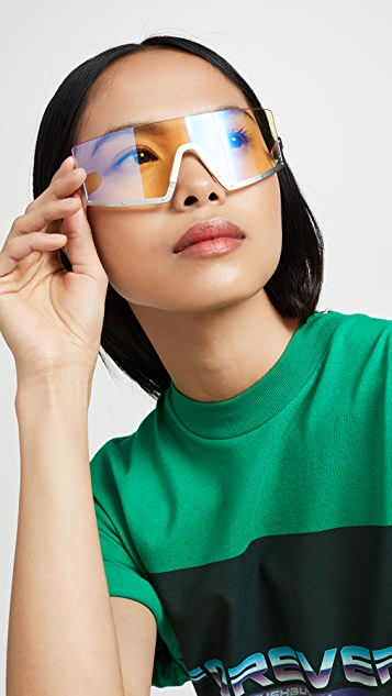 Westward Leaning Stun Sunglasses - White/Yellow