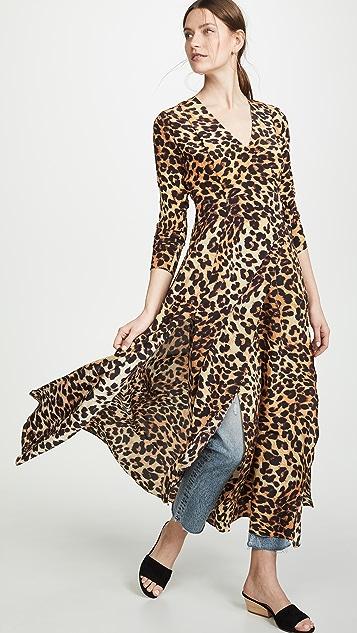 We Are Leone Платье с запахом и леопардовым принтом