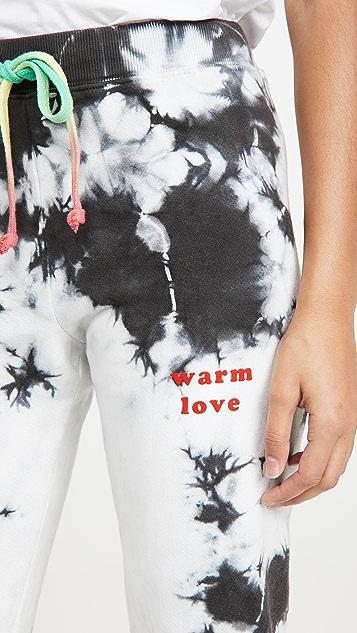 Warm Fun 整版扎染 Chill 运动裤