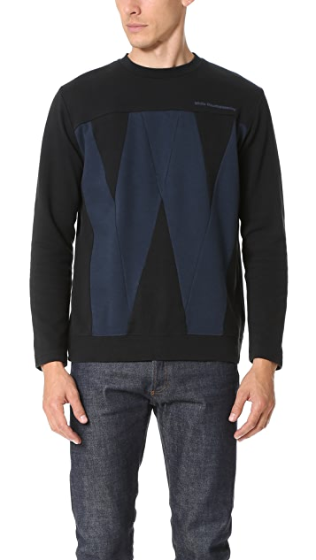White Mountaineering W Contrast Sweatshirt