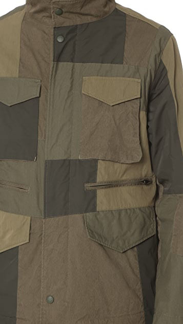 White Mountaineering Patchwork M 65 Jacket