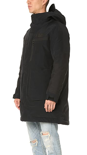 White Mountaineering Gore-Tex Nylon Taffeta 3 Layer Down Coat