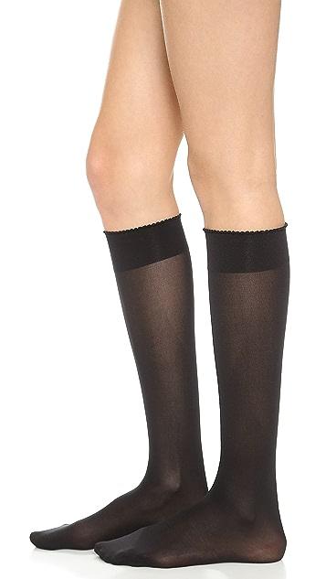 Wolford Velvet De Luxe 50 Knee High Socks