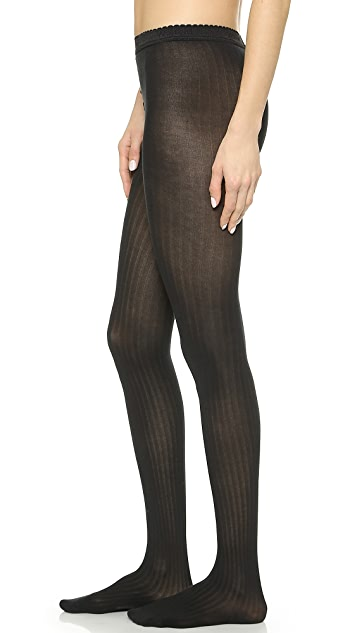 Wolford Fine Cotton Rib Tights