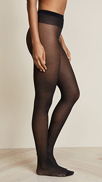 Wolford Metallic Net Tights