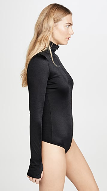 Wolford Shimmering Glass Thong Bodysuit