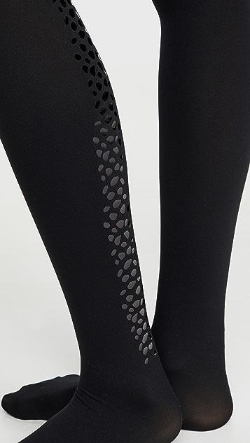 Wolford 蛇纹闪光色背面接缝连裤袜