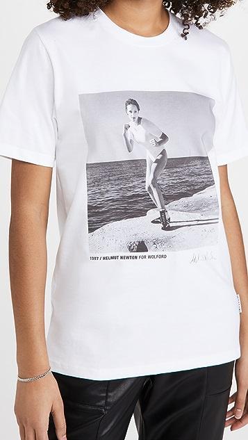 Wolford x Helmut Newton 石灰色 T 恤