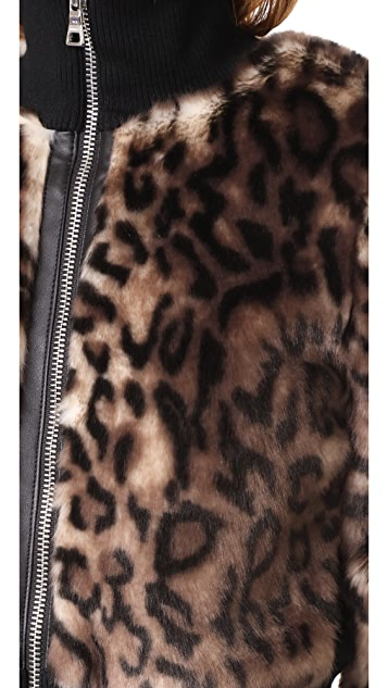 Won Hundred Jaden Leopard Bomber Jacket