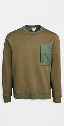 Woolrich - Nylon Patch Crew Sweater