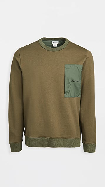 Woolrich Nylon Patch Crew Sweater