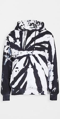 Worthy Threads - Black Tie Dye Hoodie
