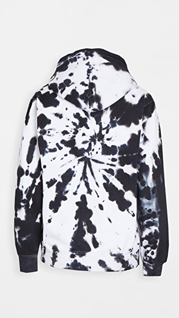 Worthy Threads Black Tie Dye Hoodie