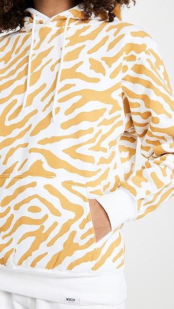 Worthy Threads Tiger Print Hoodie