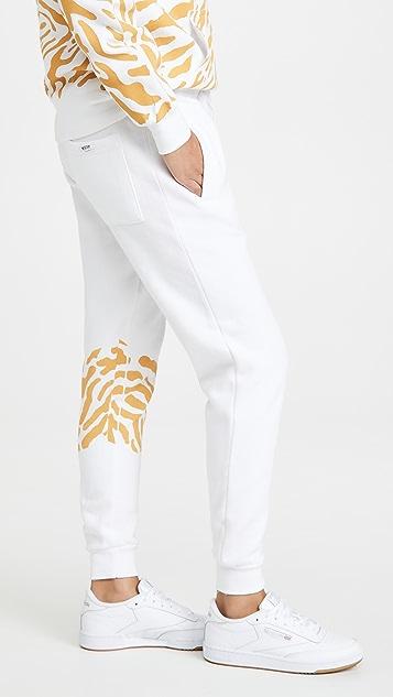 Worthy Threads Tiger Print Joggers