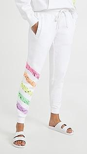 Worthy Threads 亮色条纹慢跑裤