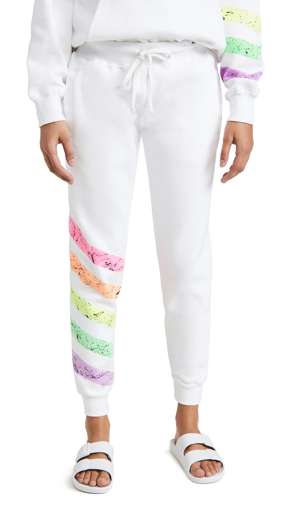 Worthy Threads Neon Stripe Joggers