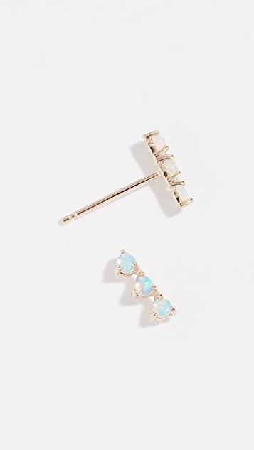 Wwake 14k Three Step Earrings