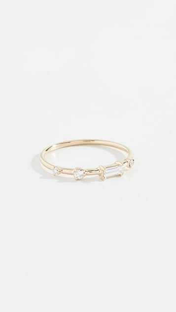 Wwake 14k Four Step Baguette Ring