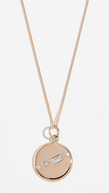 Wwake 14k Small Medallion Necklace