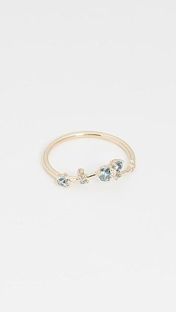 Wwake 14k Organic Triangle Sapphire Ring