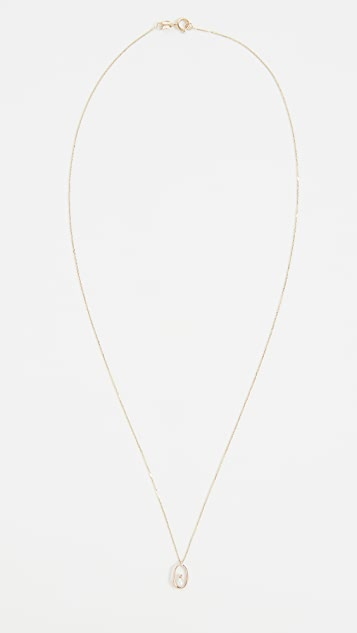 Wwake Pearl Droplet Necklace