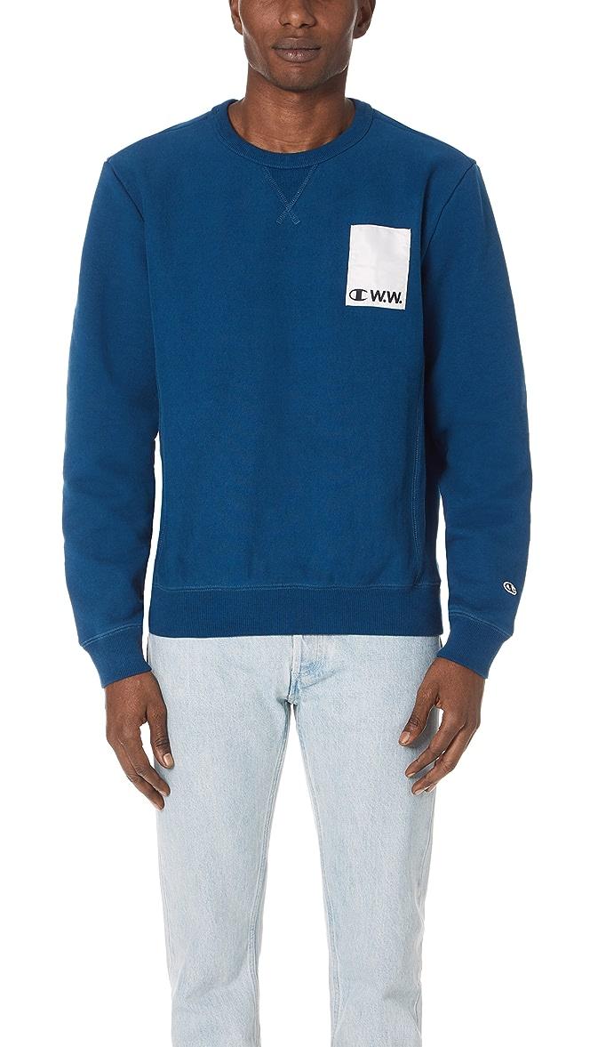 Wood Wood x Champion Crew Neck Sweatshirt | EAST DANE