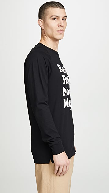 Wood Wood Han Long Sleeve Print Tee