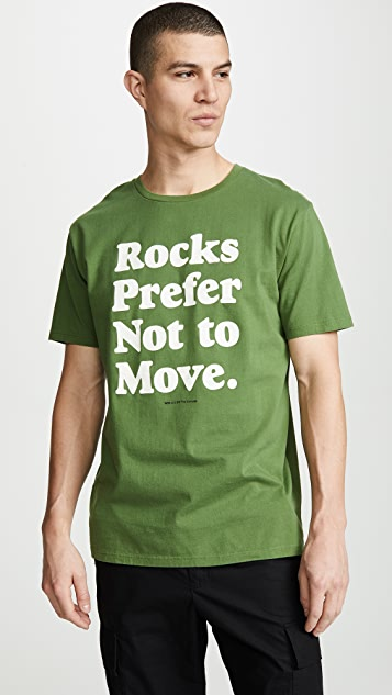 Wood Wood Short Sleeve Rocks Print Tee