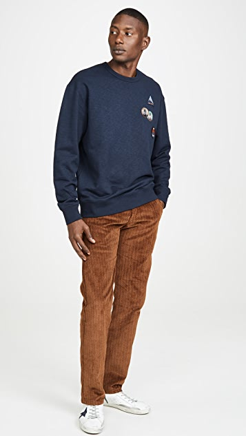 Wood Wood Hugh Sweatshirt With Patches