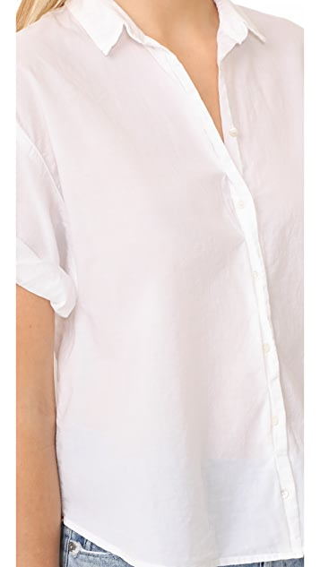 XIRENA Chance Short Sleeve Button Down
