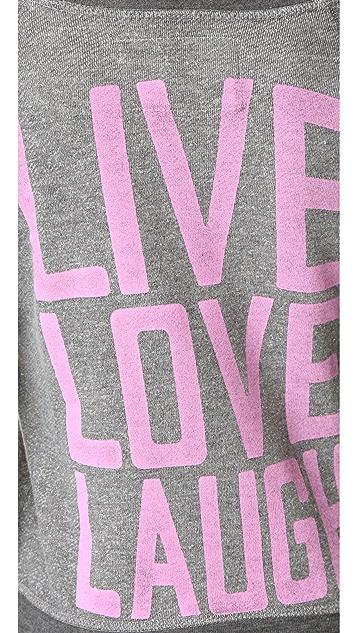 Jacks and Jokers Live Laugh Love Crew Sweatshirt