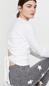 Everyday Tie Back Long Sleeve Top
